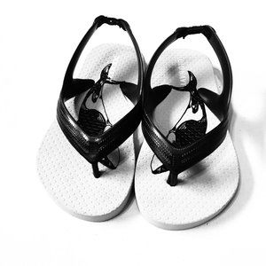 Black and Grey Killer Whale Sandals